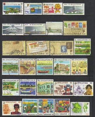 Singapore 1988-1990 Used Selection Cat £36+