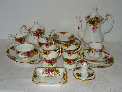 6 Pers.Kaffeeservice Royal Albert Old Country Roses, 25 Teile