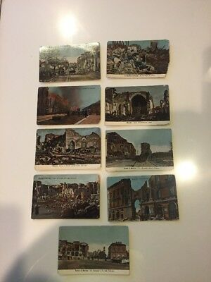 9 Various Vintage postcards from Italy, early century