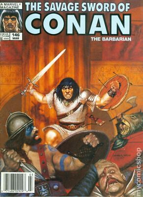 Savage Sword of Conan (Magazine) #146 1988 VF Stock Image