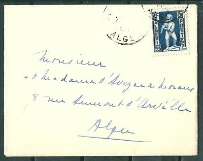 Algeria Old Cover, Posted To Alger, Nice Stamp -Cag 220218