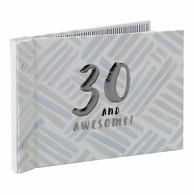 Luxe Birthday Guest Book With Photo Album by Hotchpotch - Grey 30th