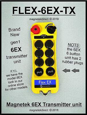 NEW Magnetek 6EX Radio Remote Transmitter unit, 0-TXC-27 for crane hoist control