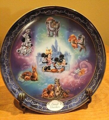 Small WONDERS PLATE BRADFORD EXCHANGE 8th Issue Magical Disney Moment Plate4444A