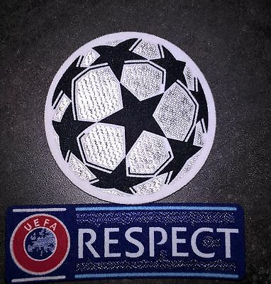 Patch Badge Europe maillots foot Champion's League + Respect 12-18 Neymar OM PSG