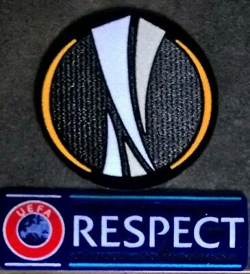 Patch Badge Europe maillots foot Europa league + Respect 12-19 OM Lyon Marseille