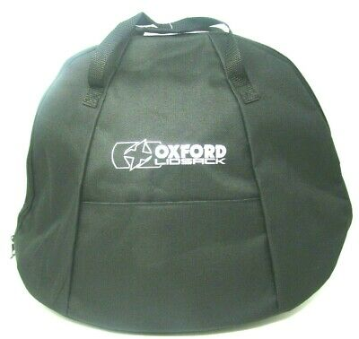 Oxford Lidsack Motorcycle Helmet Bag Motorbike Crash Lid Carry Storage Bag Black