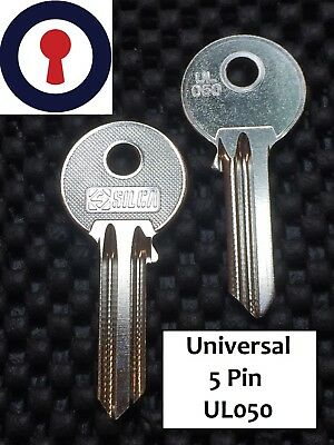 Key Blanks Universal 5 pin keys UL050 Silca x 5 blanks 1st Class P&P
