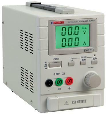 60V, 2A DC Adjustable Regulated Bench Power Supply - DURATOOL