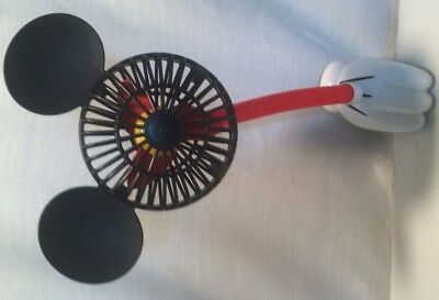 Mickey Mouse Ears Battery Operated Stroller Clip On Fan Toy--Disney Parks