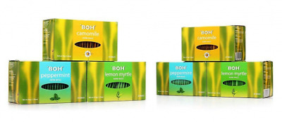 Caffeine-Free Herbal Tea,3 Assorted Flavors Camomile Peppermint and Lemon Myrtle