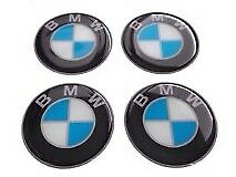 BMW Wheel Center Hub Caps Silicone Badge Emblem Stickers 4x60mm