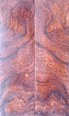 High Figure Mexican Cocobolo Rosewood Burl Knife Scales