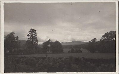DOWALLY CHURCH Landscape Hills PERTHSHIRE Vintage Real Photo PC c1920s