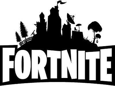FORTNITE LOGO - EDIBLE ICING IMAGE - CAKE TOPPER - APPROX 19x25cm