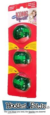 Dog Toy Kong Christmas Fetch Ball Squeaker Set of 3 Squeezz  Pet Holiday Durable