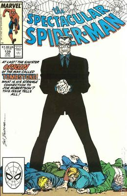 Spectacular Spider-Man (1st Series) #139 1988 FN Stock Image