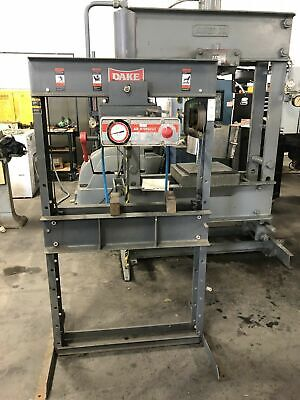 Dake 6-425 Air Operated press: 25Ton, Dual Pump