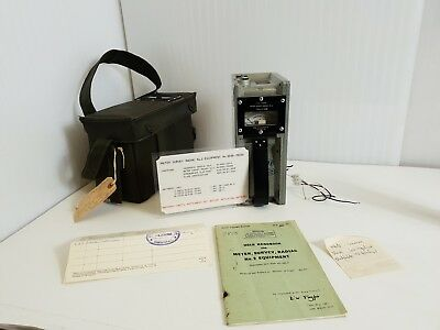 1959 Meter Survey, Radiac, No. 2 With Case User Handbook and paperwork