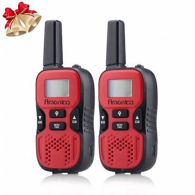 22 Channel FRS/GMRS 2 Way Radio 2 miles UHF Handheld Kids Walkie Talkies NEW US