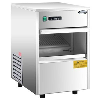Commercial Automatic Ice Maker Machine Productivity 24h Stainless Steel Machine