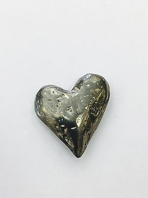 Heart Spirituality Pocket Coin Charm Silver Antique Finish Good Luck God Gift