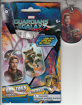 Marvel GUARDIANS OF THE GALAXY Vol 2 STAR-LORD 3-D Dog Tag CHASE #3 (1:24 packs)