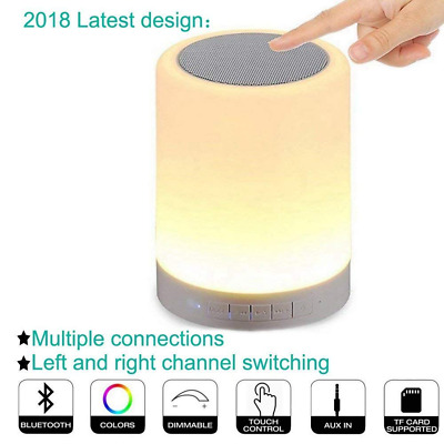 Wireless Music Player Touch Control Color Changing Night Light Bluetooth Speaker