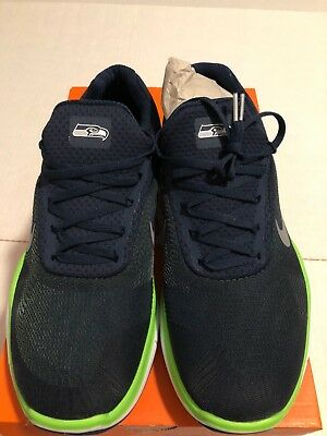 online store f3987 2f8df Nike Seattle Seahawks Free Trainer V7 Ltd Edition AA1948-400 Shoes Size 11