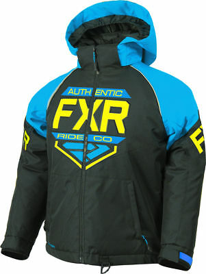 FXR Black/Blue/HI-Vis Youth Clutch Insulated FAST Snowmobile Jacket Snow 2019