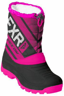 FXR Black/Fuchsia Youth Octane Insulated Snowmobile Boots Snow 2019