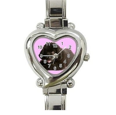 NEWFOUNDLAND DOG Puppy LADIES WOMENS HEART WATCH 97331350