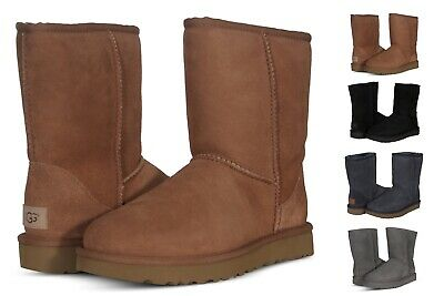 31f88c70a3 UGG WOMEN'S SHOES Classic Short II Boots 1016223 Black Chestnut Grey  Chocolate