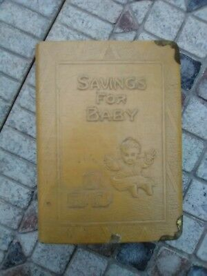 Vintage Savings For Baby Bank Made By Zell 1930's