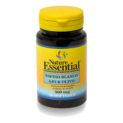 ESPINO BLANCO + AJO + OLIVO 500 mg. 50, 100, 150 o 250 Perlas - NATURE ESSENTIAL