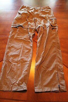 "BOY CUB SCOUT NYLON SWITCHBACK PANTS - ADULT SMALL 30"" (Olive) BSA - 35"