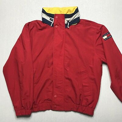 Men s Vintage 90 s Tommy Hilfiger Sailing Jacket Red Medium Good Condition d48c2e2759a4