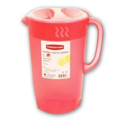 Rubbermaid 3063C 1 Gallon Classic Pitcher Coral Ice Guard Lid BRAND NEW!!