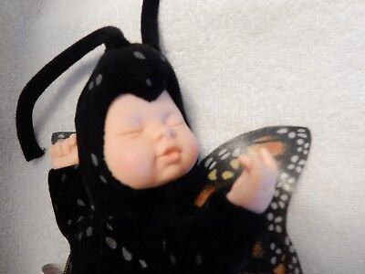 "Anne Geddes BABY BUTTERFLY Plush Sleeping Monarch Butterfly 14"" Beanbag Doll EUC"