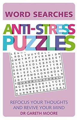 Anti-Stress Puzzles: Word Searches by Moore, Gareth, NEW Book, (Paperback) FREE