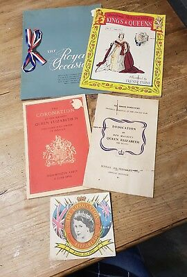 4 QUEEN ELIZABETH11 CORONATION  1953 ,1958 royal SA visit souvenirs