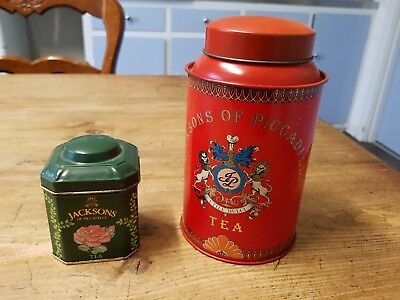 2 JACKSONS of piccadilly TEA tins