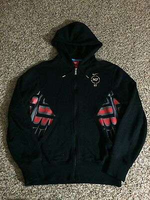 352ac369b607 Nike N7 Black Full Zip with Tribal Graphic Pocket Hoodie Sweatshirt Men s  ...