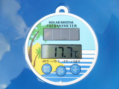 Pool Thermometer Solar Swimming Digital