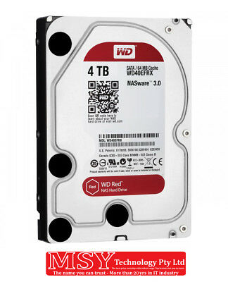 """WD 3.5"""" Red NAS 4TB (WD40EFRX) 64M SATA3 HDD"""