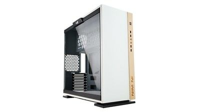 InWin 305 (White) Mid Tower Case with Tempered Glass Window (without PSU)