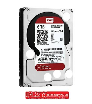 """WD 3.5"""" Red NAS 6TB (WD60EFRX) 64M SATA3 HDD"""