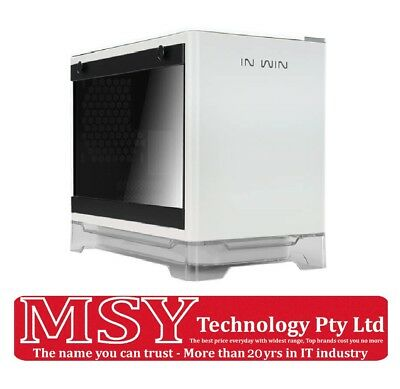 InWin A1 (WHITE) MINI-ITX PC CASE with Tempered Glass side panel (with 600W PSU)