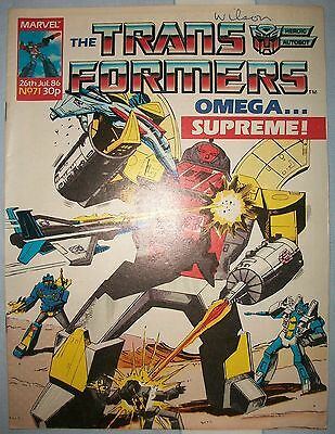 Transformers UK Comic Issue 71 July 1986 Command Performances Part 2