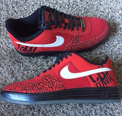 meet 1d18e 86a55 Nike Lunar Force 1 Fuse Chicago Low Red Black White Brand New Men s Size 13  Rare
